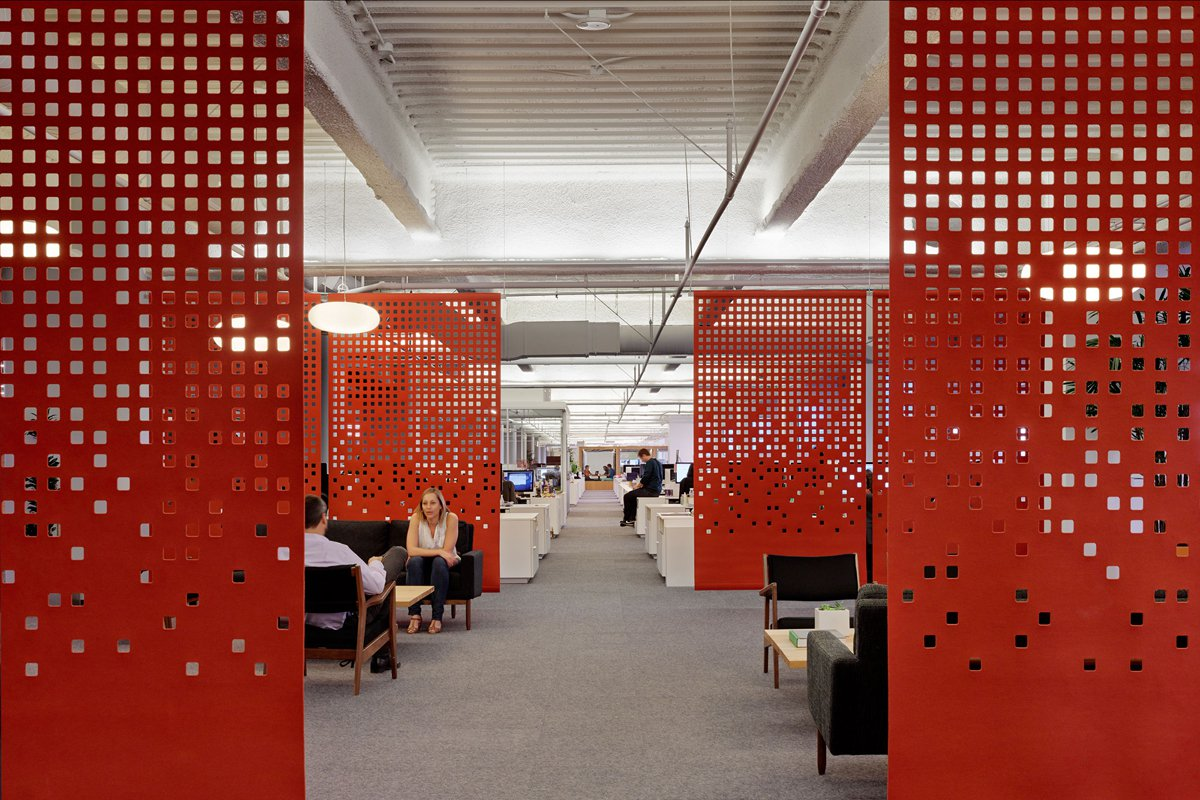 Decorative Screens in Office - Red